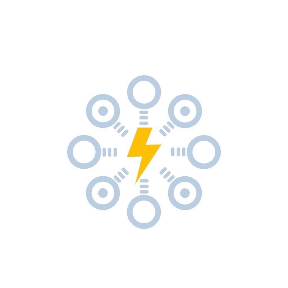 icon.eps di distribuzione di energia elettrica vettore