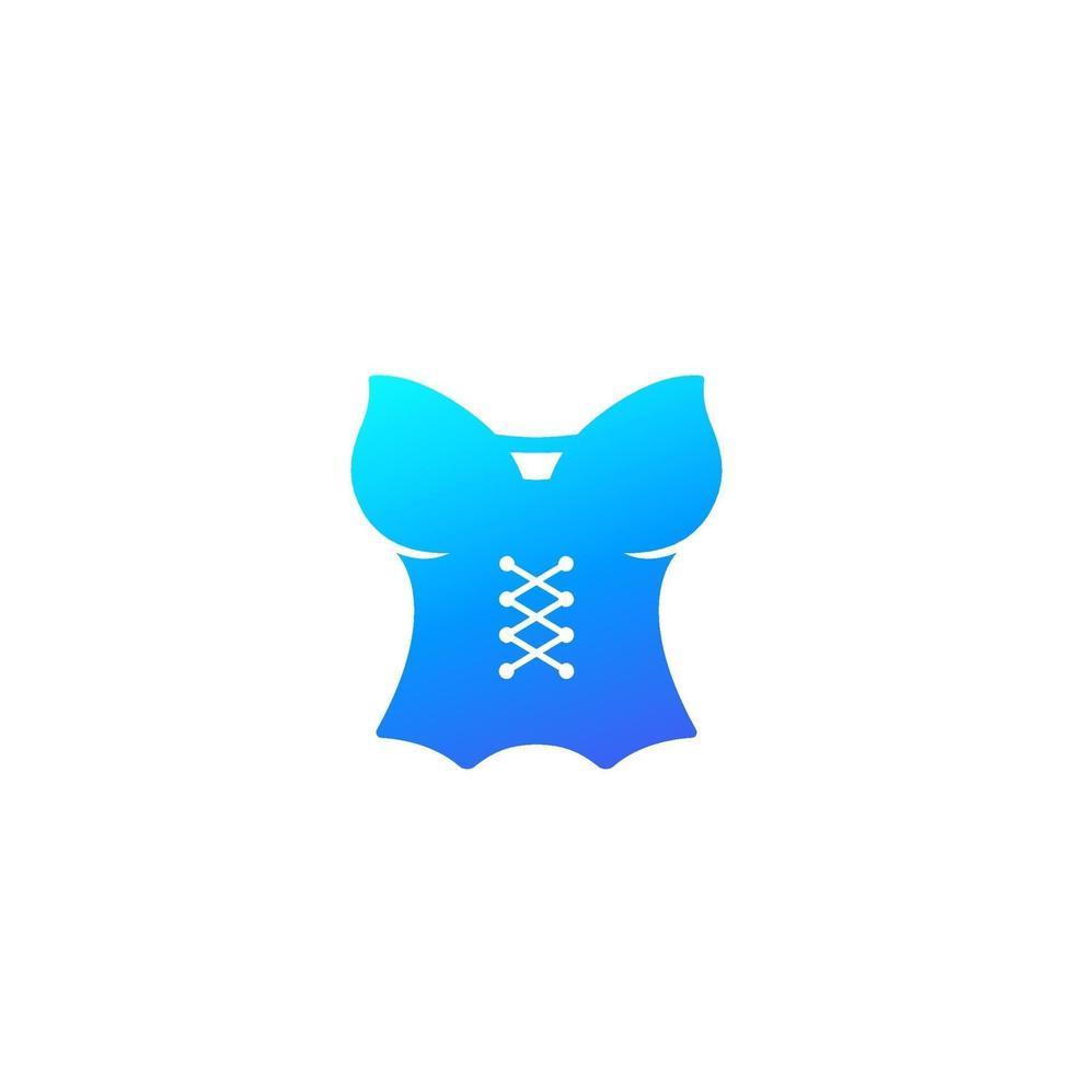 corsetto, lingerie icon.eps vettore