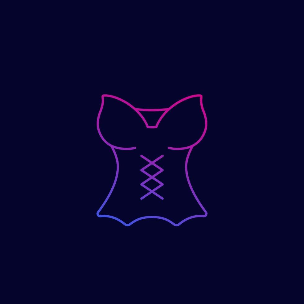 icona del corsetto, linear.eps vettore