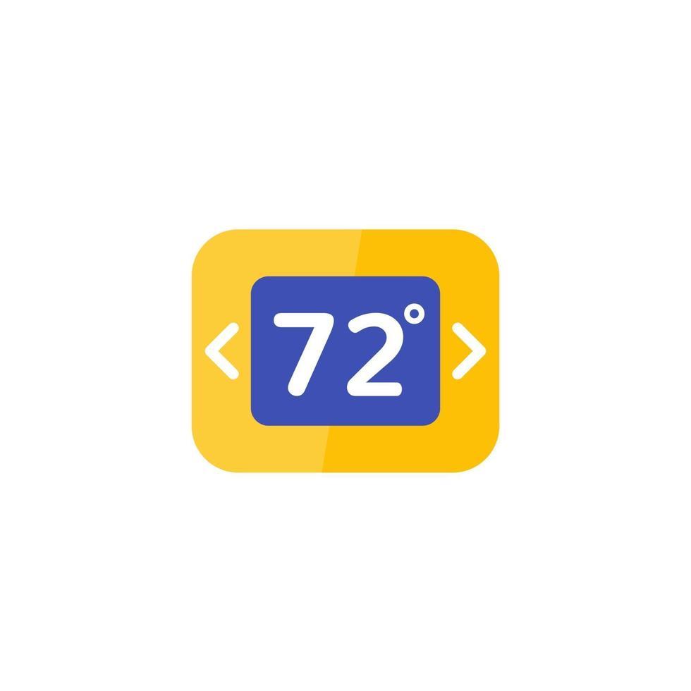 icona del termostato su bianco, flat.eps vettore