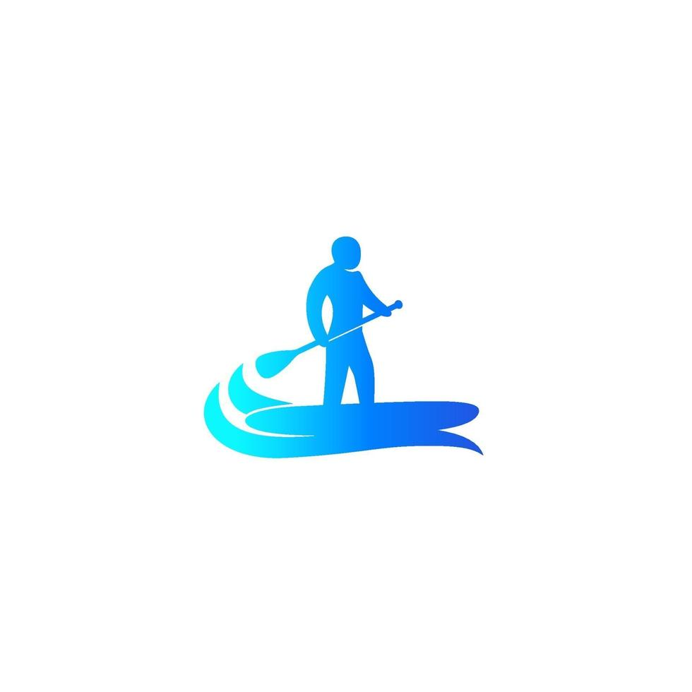 sup, stand up paddle surf board icon.eps vettore