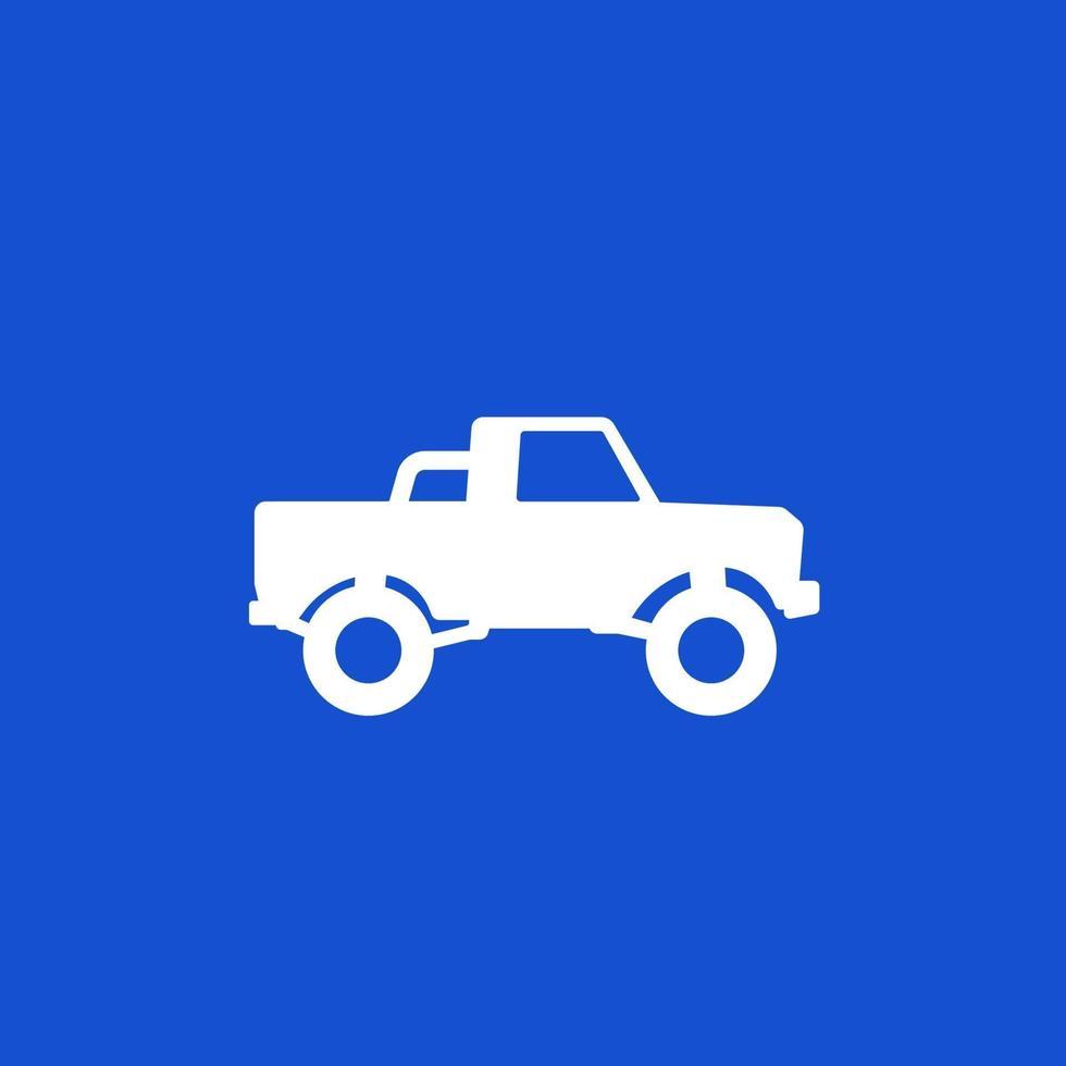 camioncino, 4x4 auto vector icon.eps