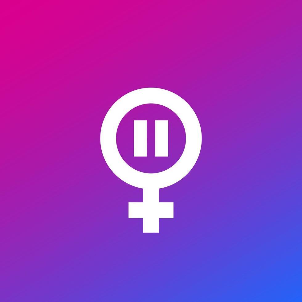 icona della menopausa, simbolo di vettore climaterio.eps