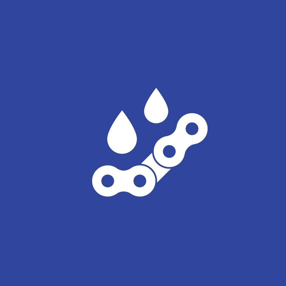 lubrificazione, olio per icona catena, vector.eps vettore