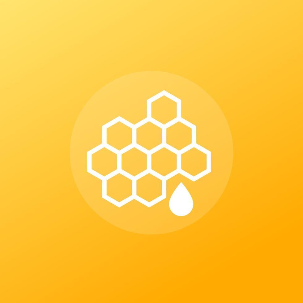 icona di vettore di miele con honeycomb.eps
