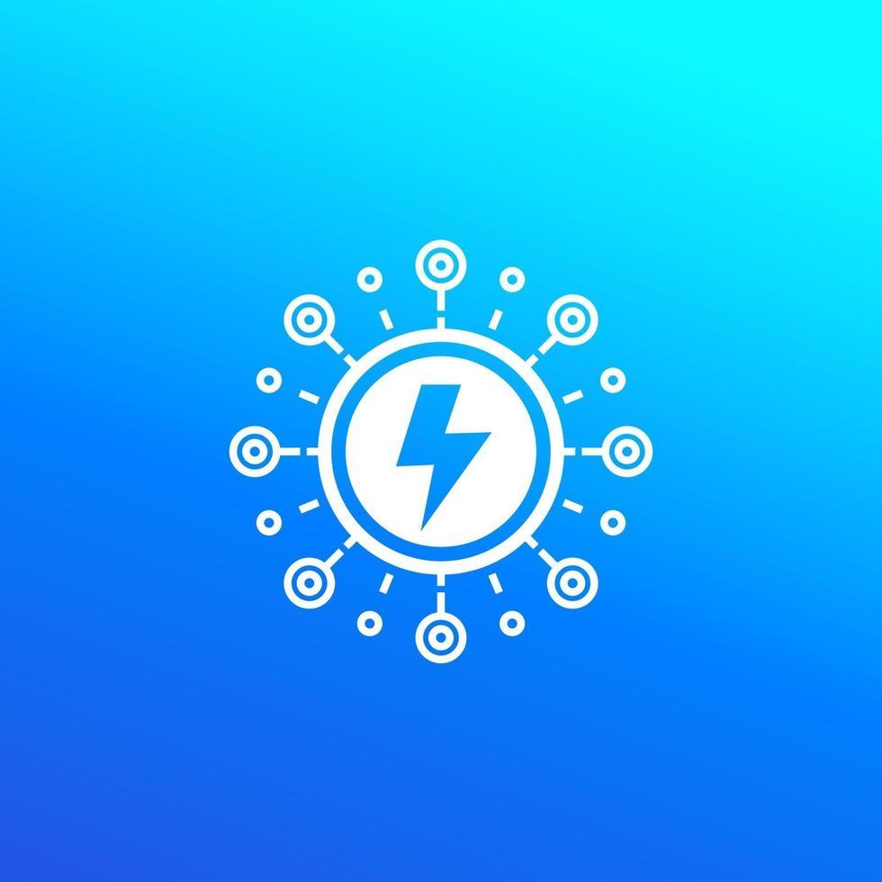 elettricità ed energia elettrica vector icon.eps