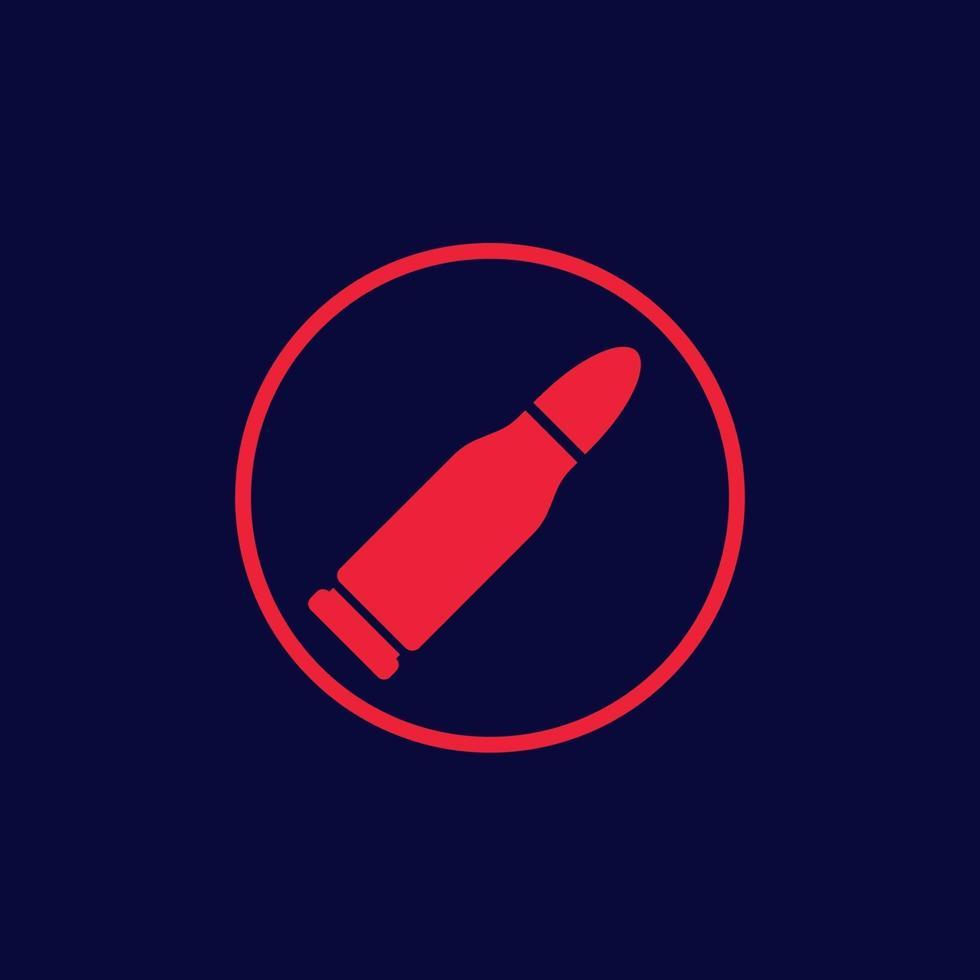 icona del proiettile, simbolo di vettore di munizioni.eps