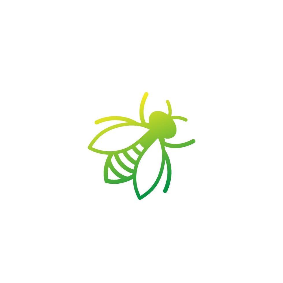 icona di ape su bianco, vector.eps vettore