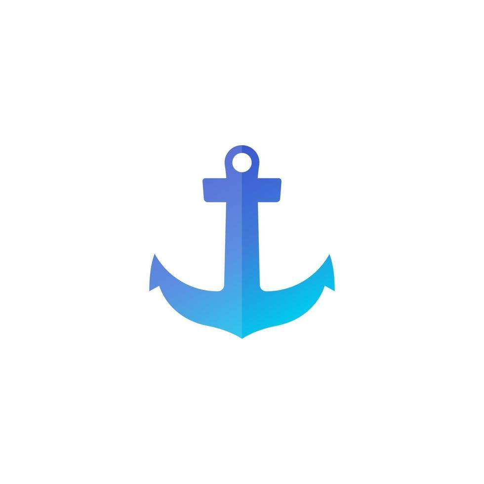 icona di ancoraggio, logo vettoriale porto marino.eps