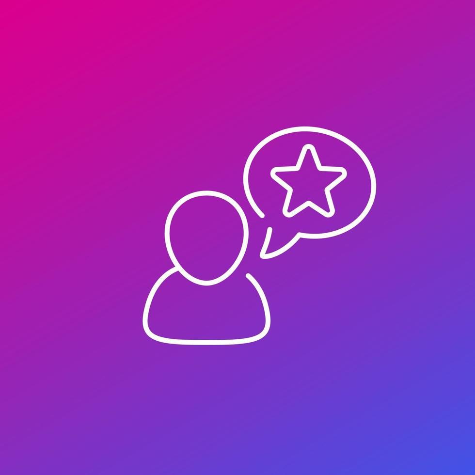 utente, icona della linea preferita per web.eps vettore