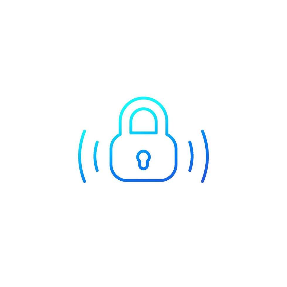 icona della linea di blocco wireless su white.eps vettore