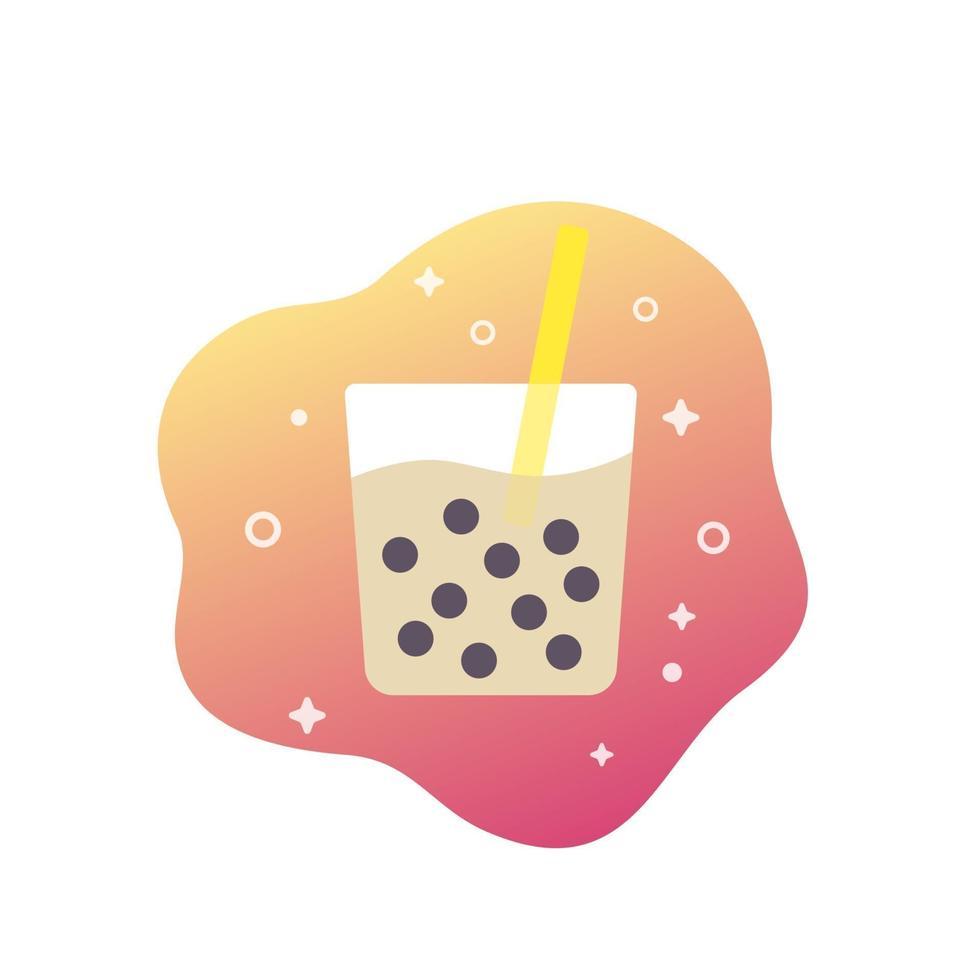 bevanda di tapioca, bubble tea vector icon.eps