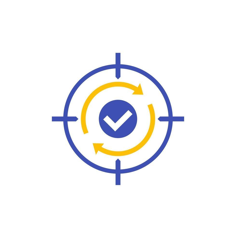 icona di retargeting, concetto di marketing digitale.eps vettore