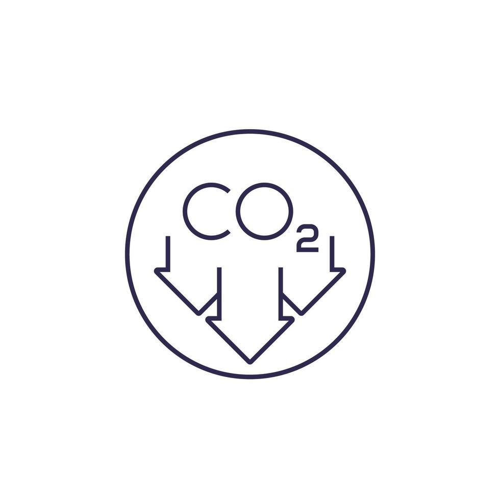ridurre le emissioni di carbonio, linea del vettore icon.eps