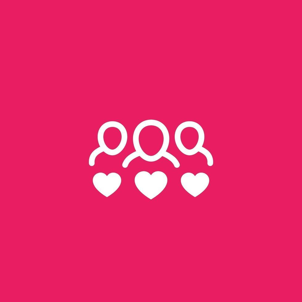 clienti felici o fidelizzazione del cliente icon.eps vettore