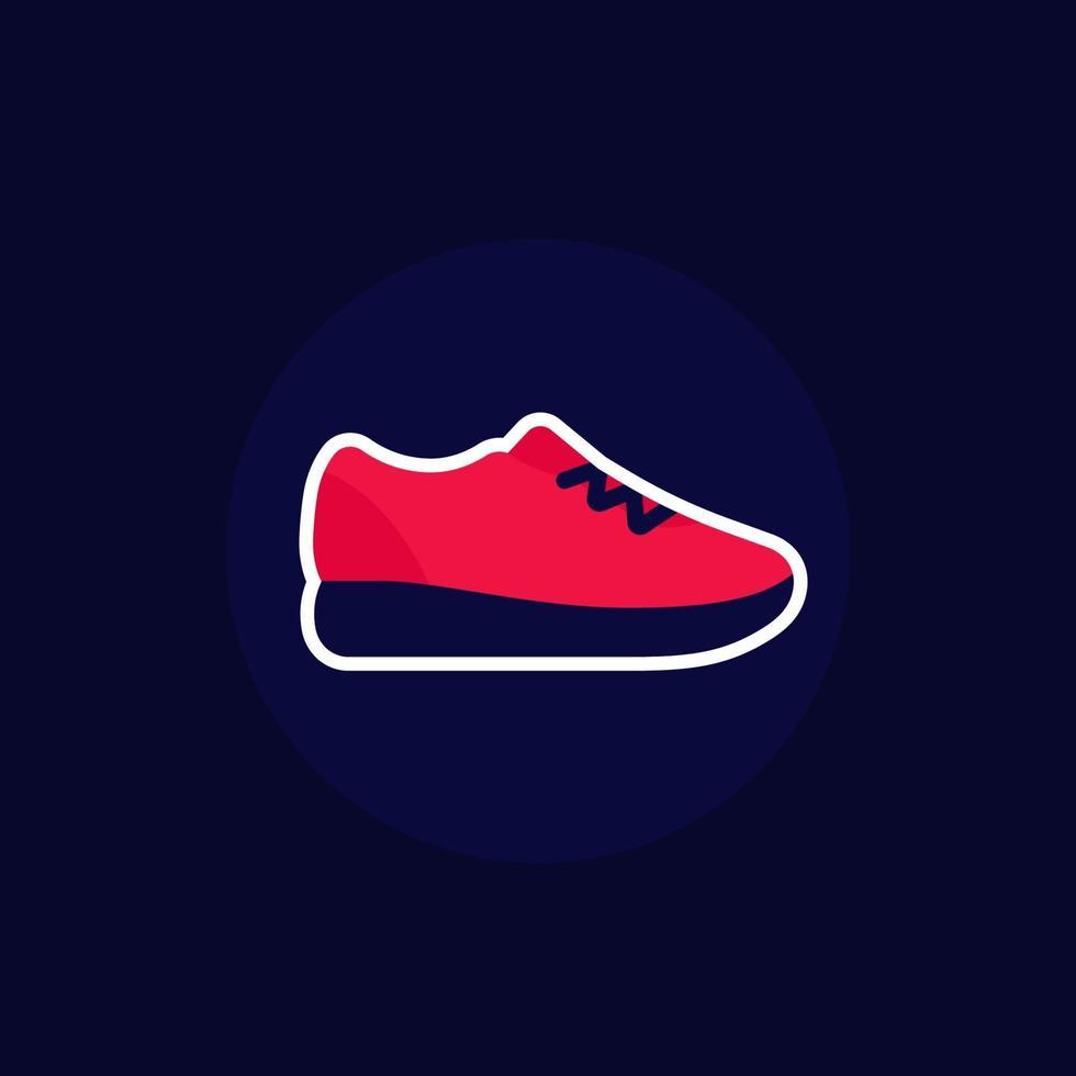 icona di scarpa da corsa, scarpe da ginnastica o sneakers.eps vettore