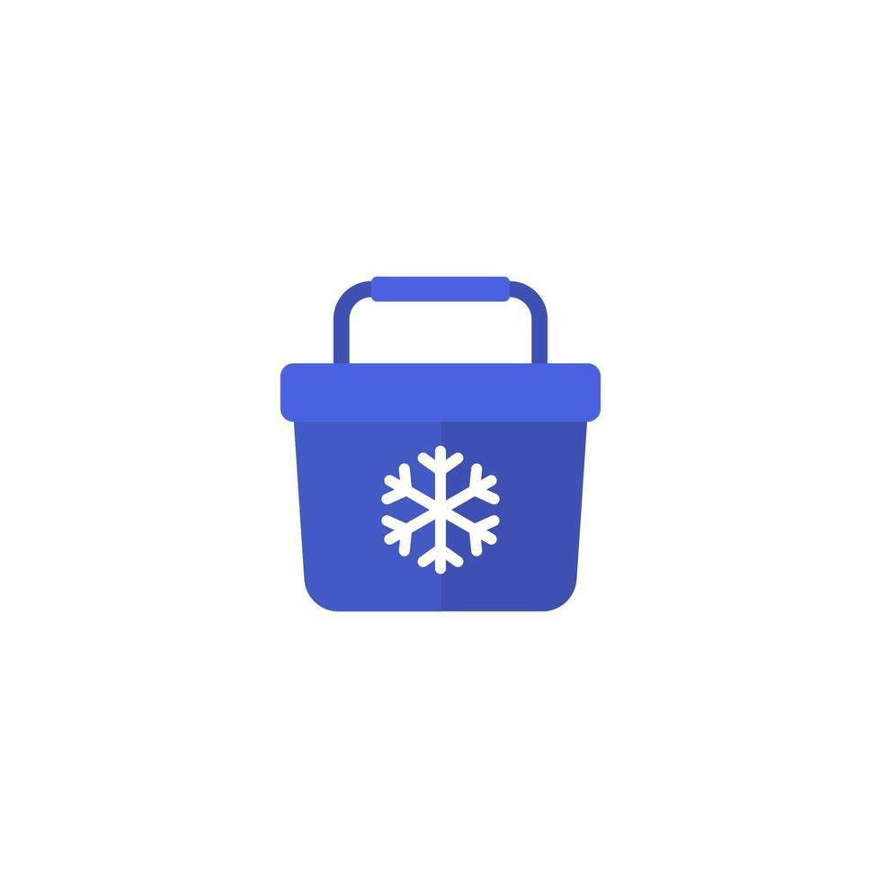 icona di vettore del frigorifero portatile su white.eps