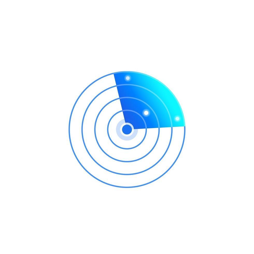 icona di vettore del radar su white.eps