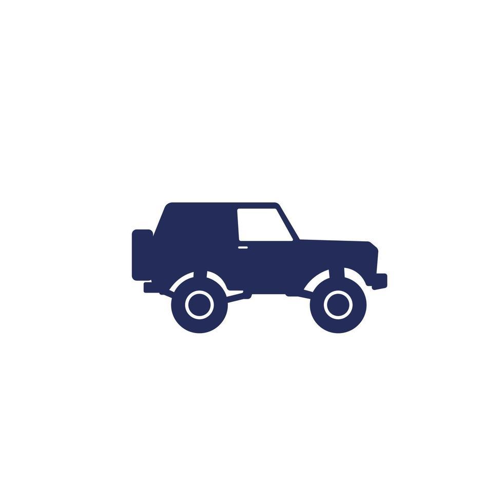 fuoristrada, suv 4wd icon.eps vettore