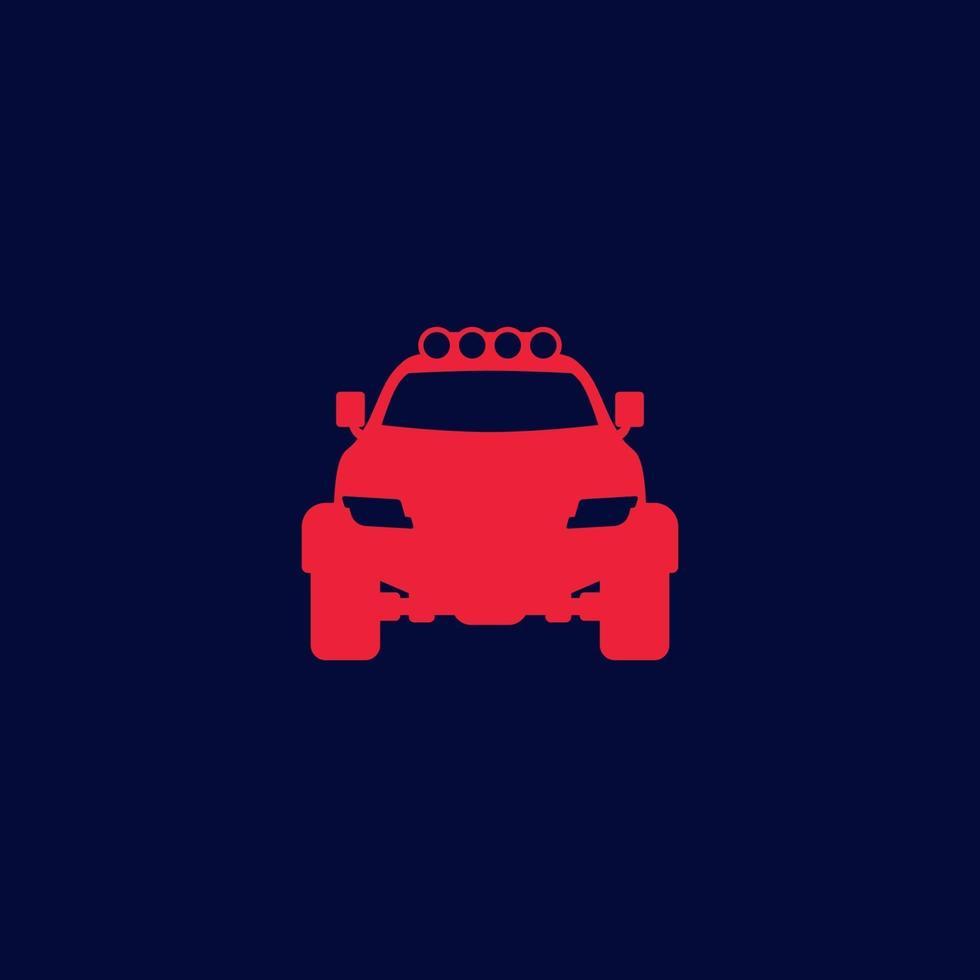 fuoristrada 4x4 suv icon.eps vettore