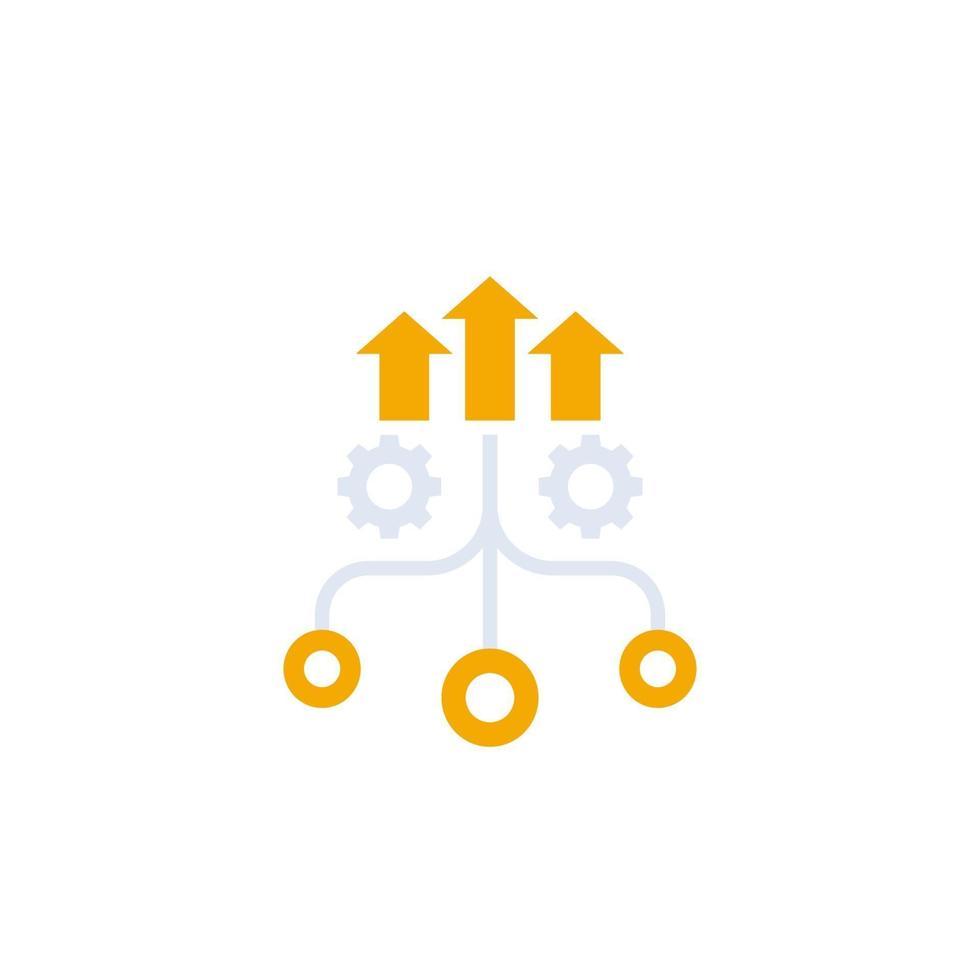 crescita e ottimizzazione vector icon.eps