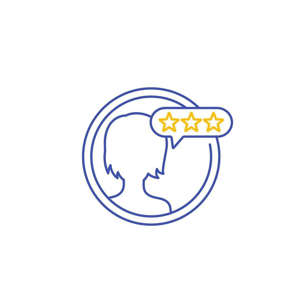 recensione del cliente, feedback e valutazione della linea del vettore icon.eps
