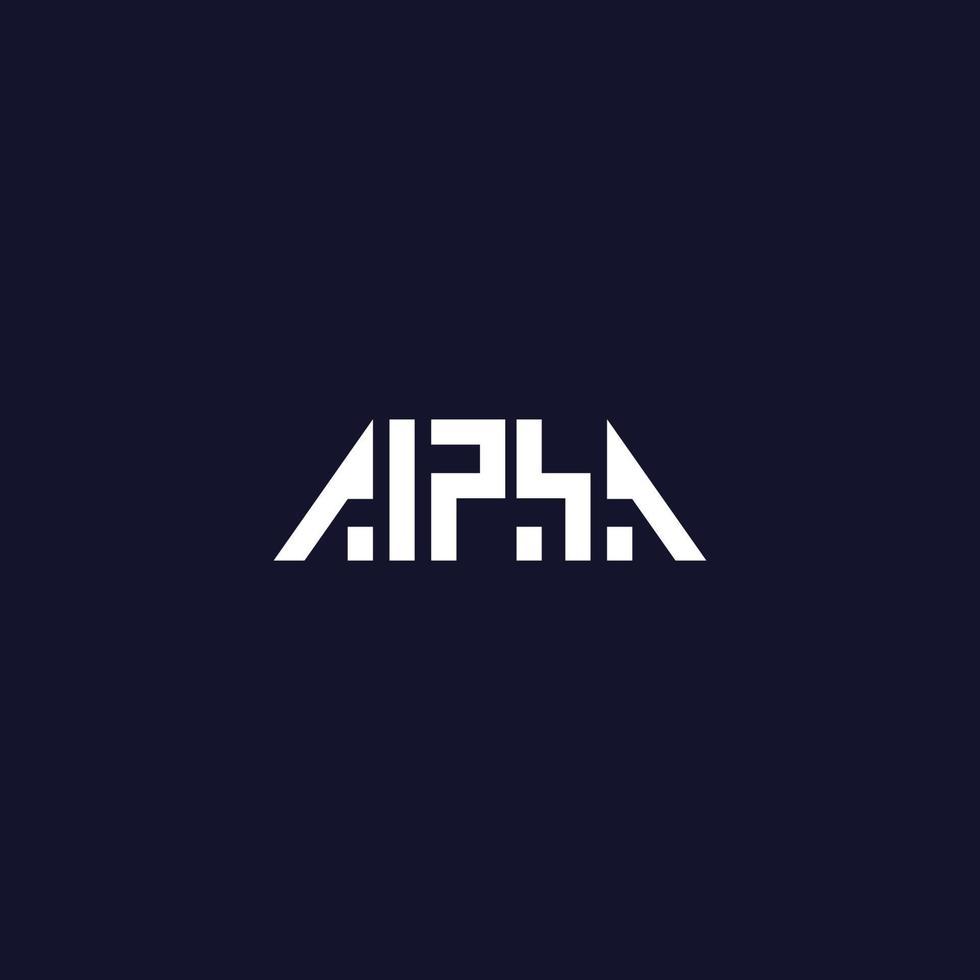 logo vettoriale alfa, design minimale.eps