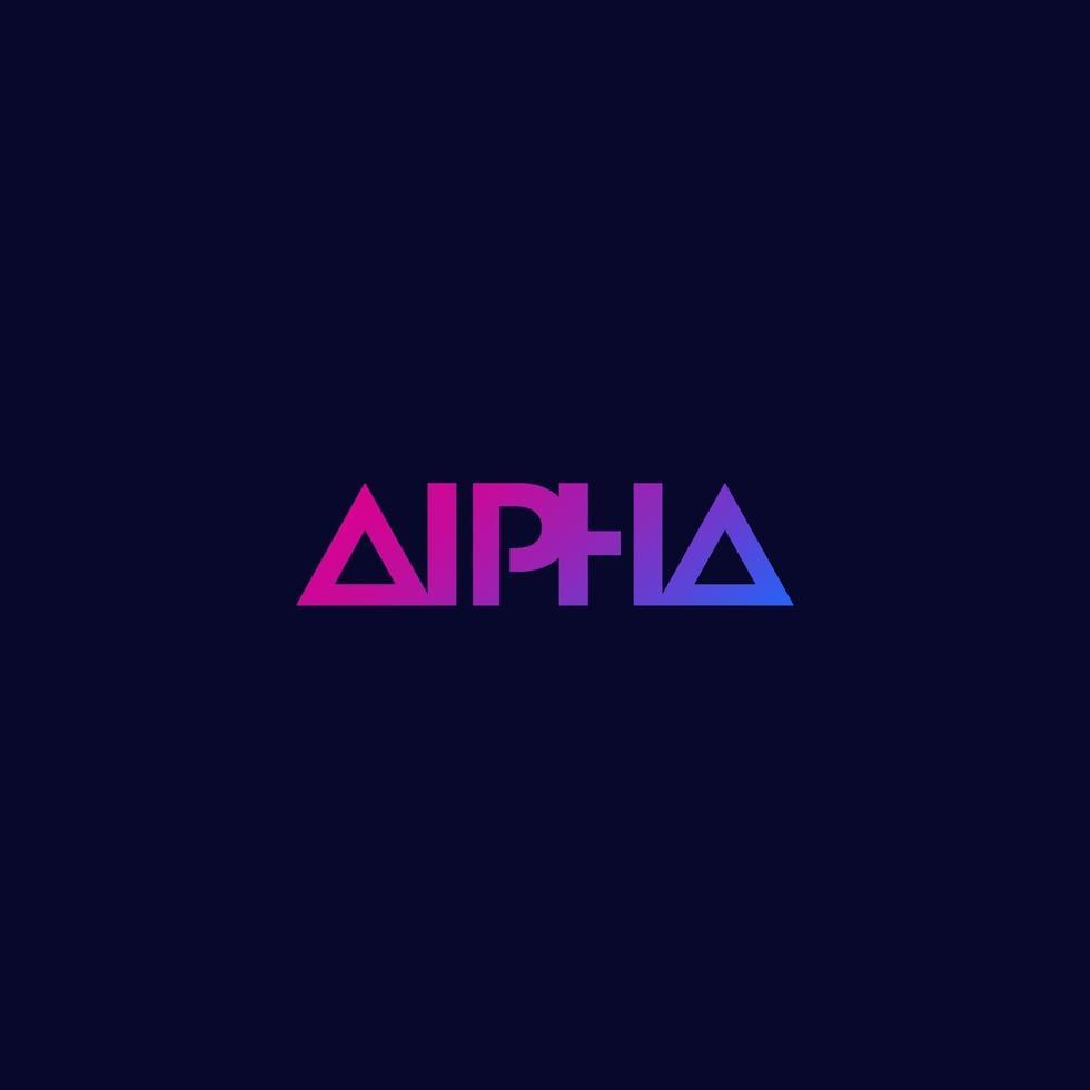 logo alfa, design minimale, vector.eps vettore