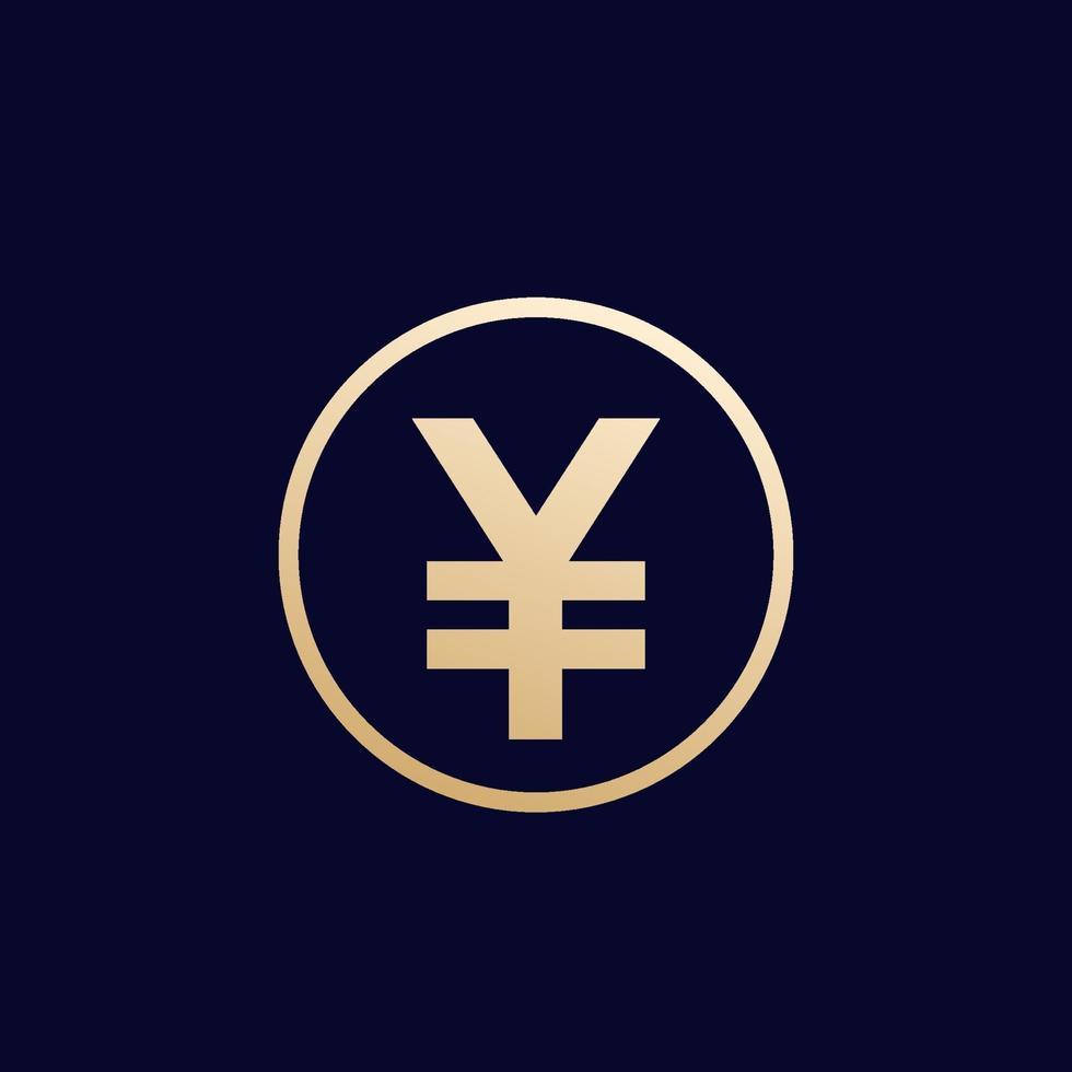icona di yen, denaro giapponese, vector.eps vettore