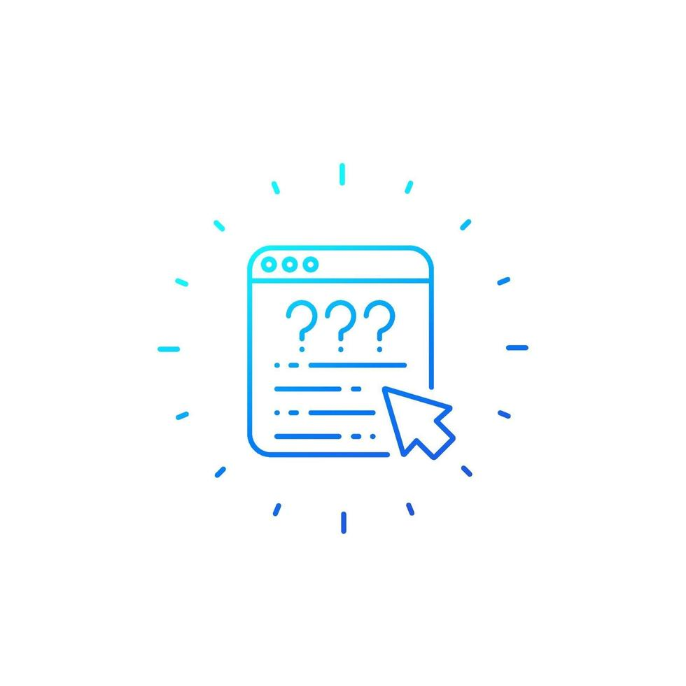 linea di vettore di sondaggio online icon.eps