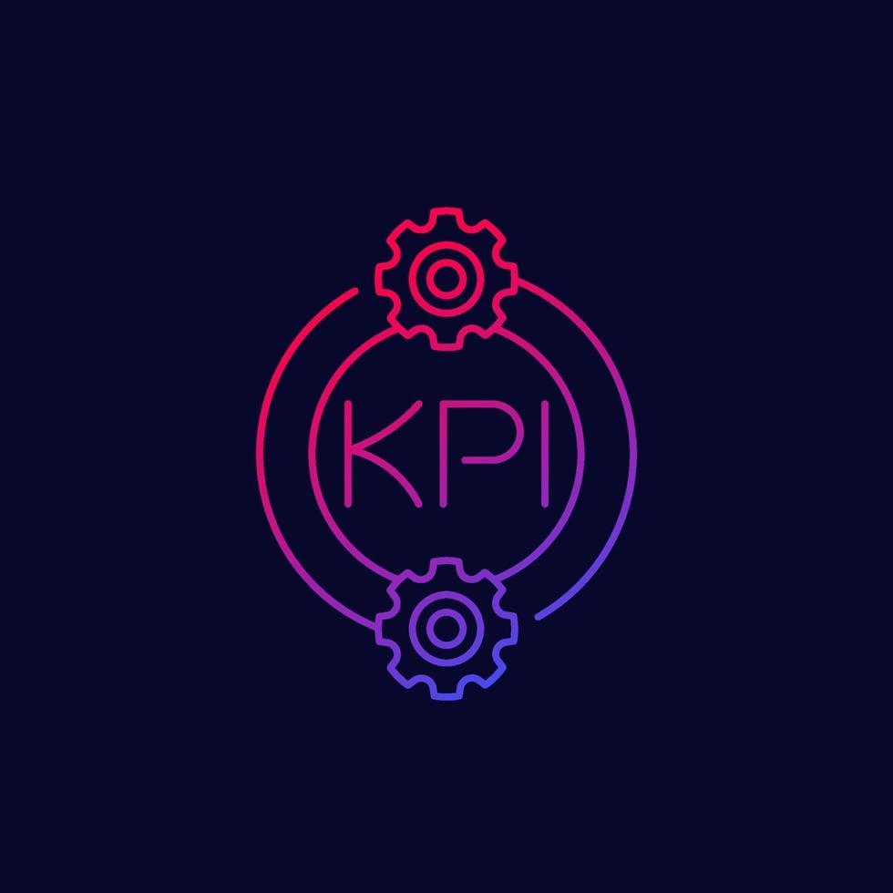 icona kpi, disegno vettoriale lineare.eps