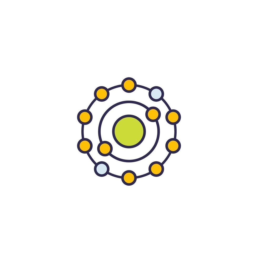 icona antiossidante, vettore su white.eps