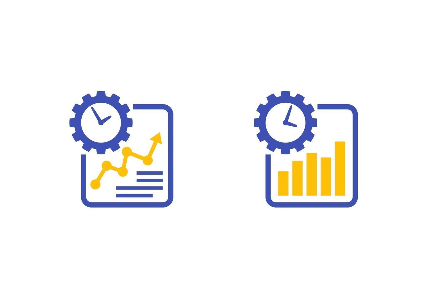 icone di crescita della produttività del lavoro su white.eps vettore