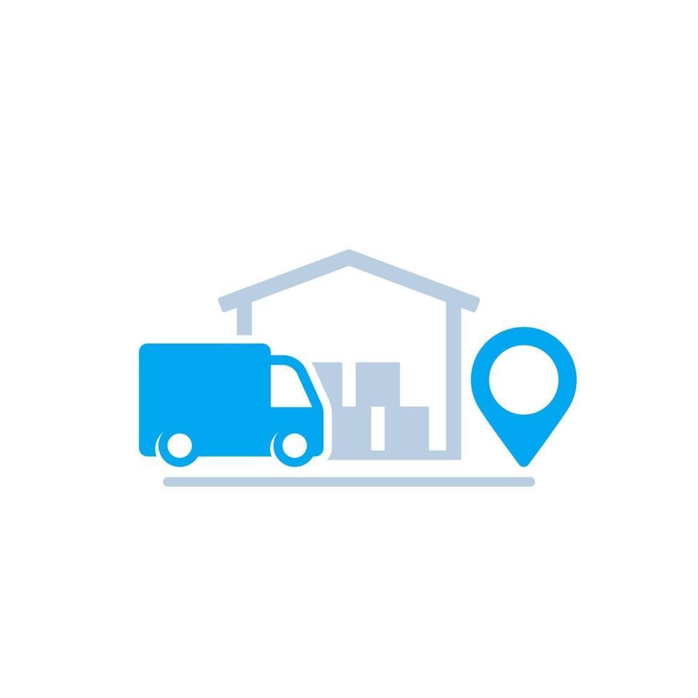 magazzino e furgone, consegna icon.eps vettore