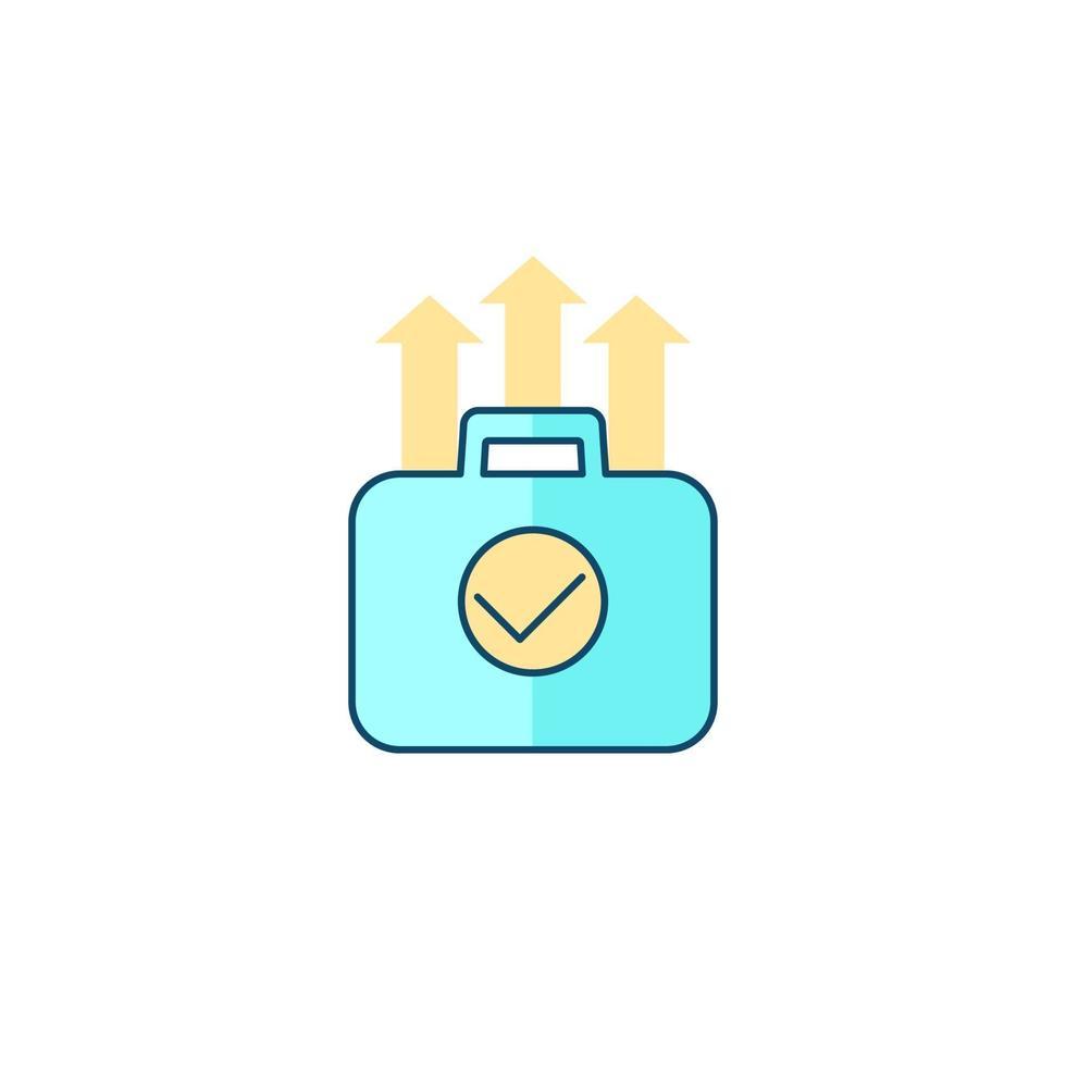 crescita del portafoglio, icona di vettore di finanza con outline.eps