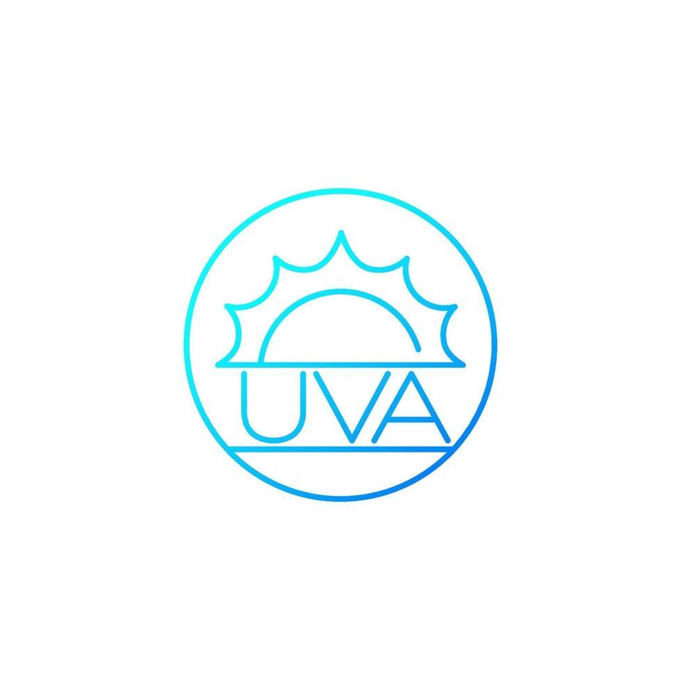 Icona di vettore di protezione uva, linea design.eps