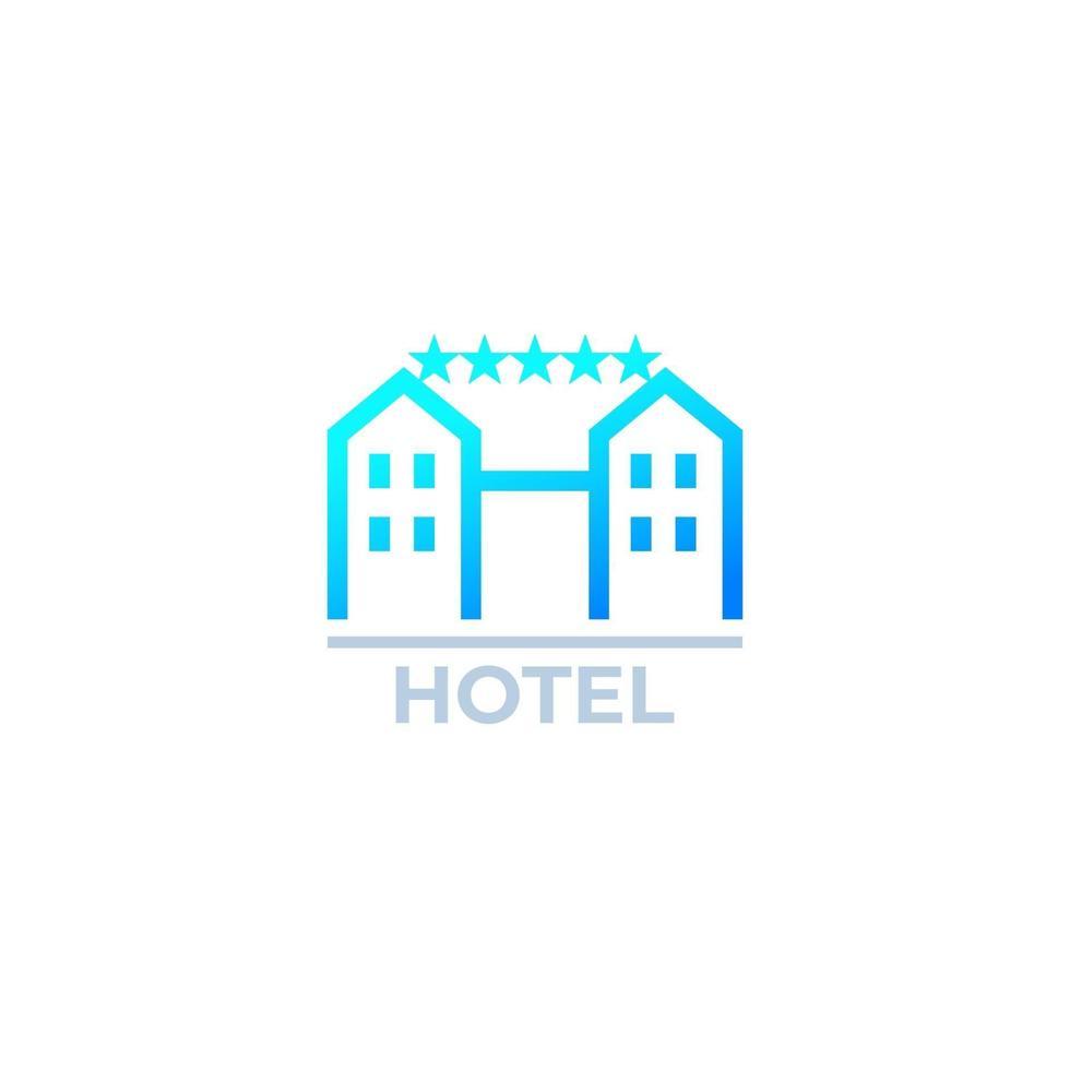 icona dell'hotel su bianco, vector.eps vettore