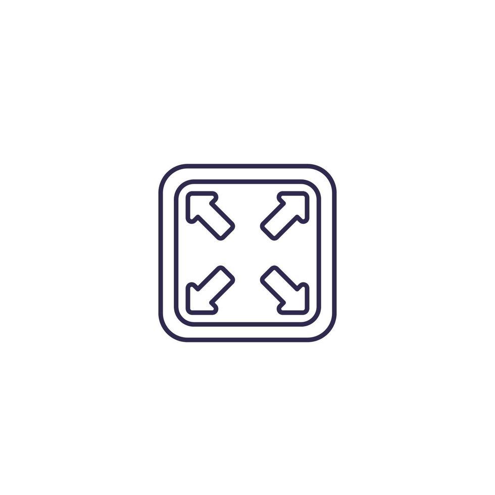 ingrandire l'icona, linea vector design.eps