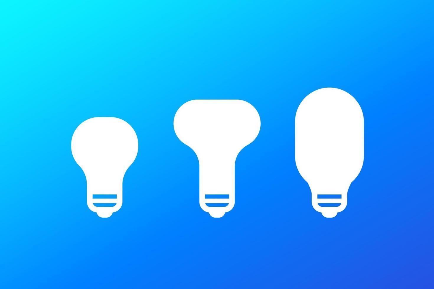 icone della lampadina a led, vector.eps vettore
