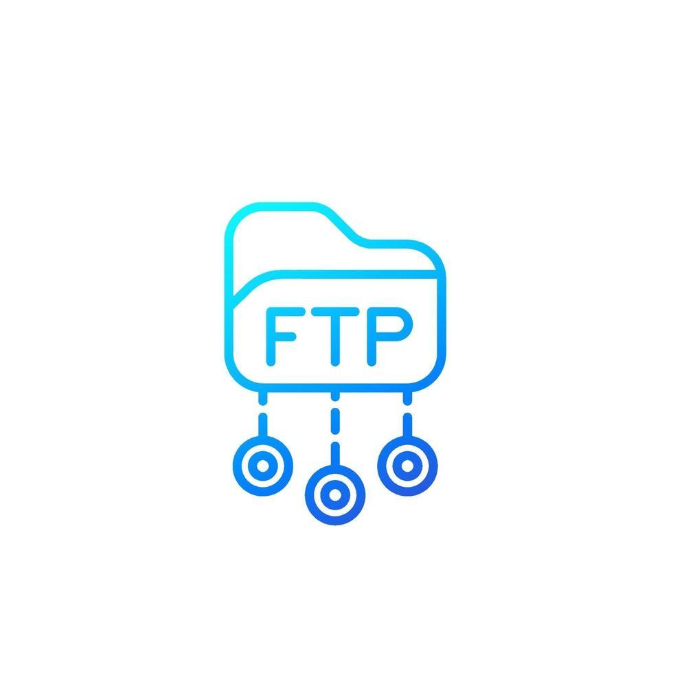 FTP protocollo linea vettoriale icon.eps