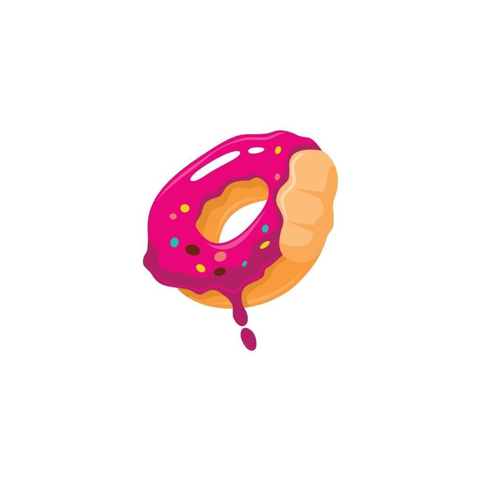 ciambelle morse di colore rosa fuso vettore