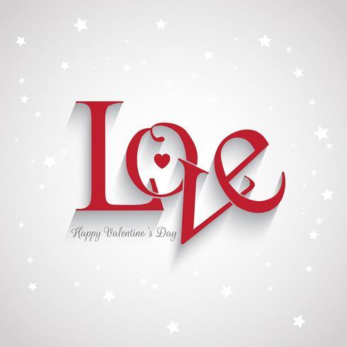 San Valentino sfondo amore vettore