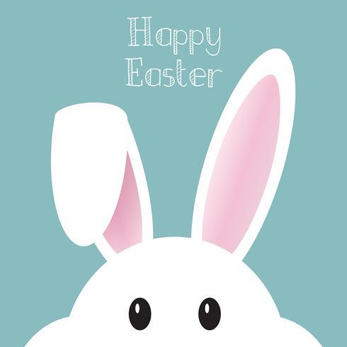 Simpatico sfondo del coniglietto di Pasqua vettore