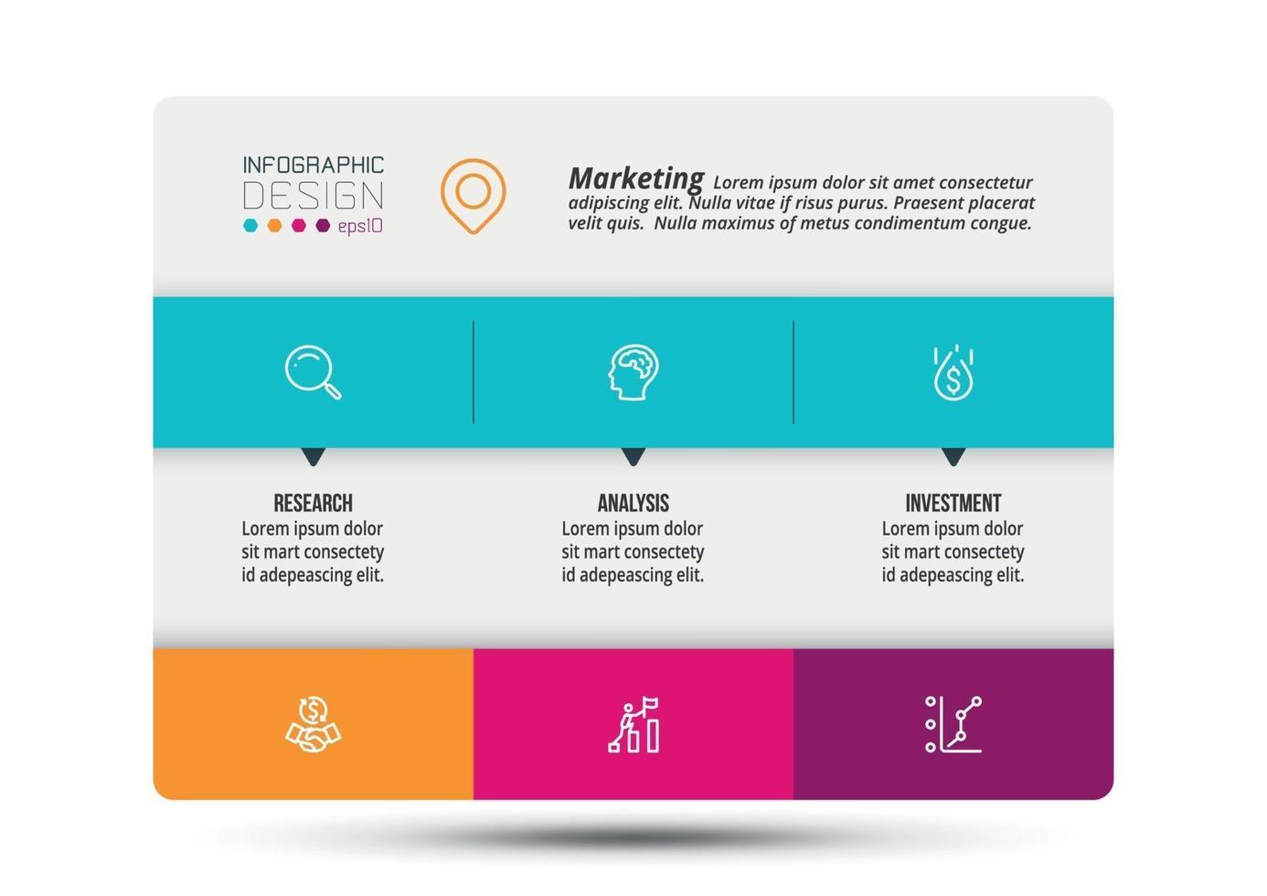 modello di presentazione aziendale o di marketing infografica. vettore