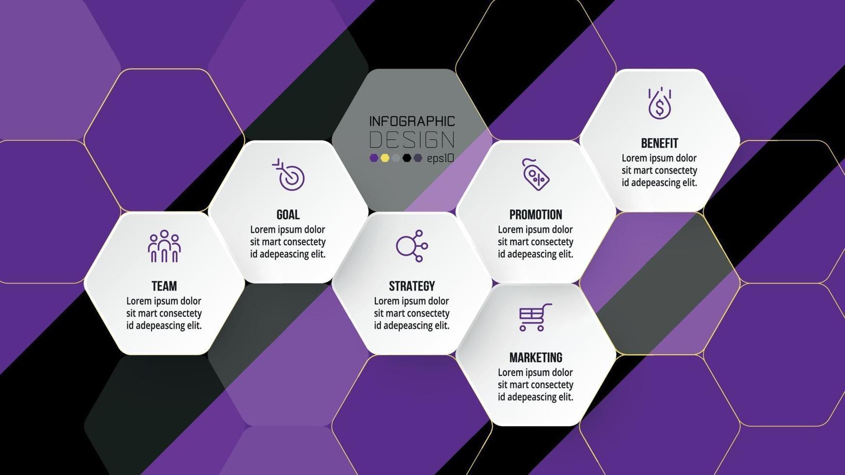 progettazione del modello di infografica aziendale timeline. vettore