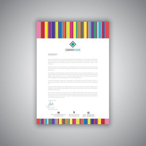 Carta intestata aziendale con motivo a strisce vettore