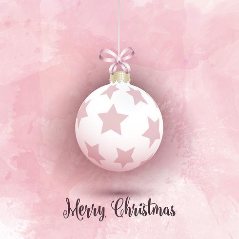 Bagattella di Natale su uno sfondo rosa acquerello vettore