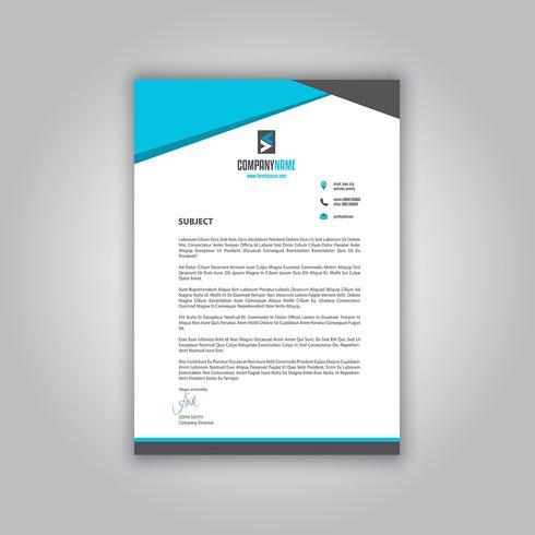 Carta intestata aziendale vettore