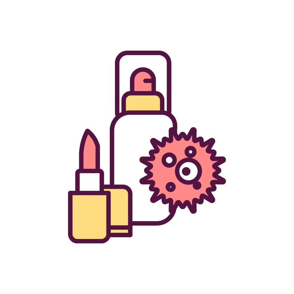 icona di colore di impatto ambientale di cosmetici vettore