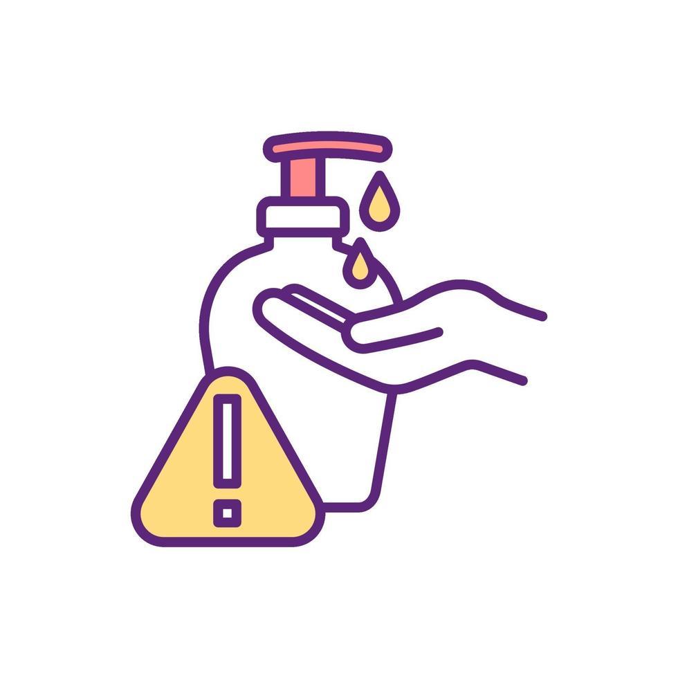 icona del colore di disinfezione delle mani vettore